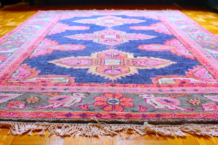 Our colorful Persian Kismet rug by Caitlin Wilson.