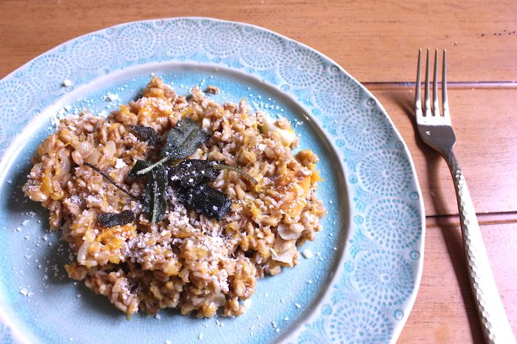 Butternut Squash Risotto with f