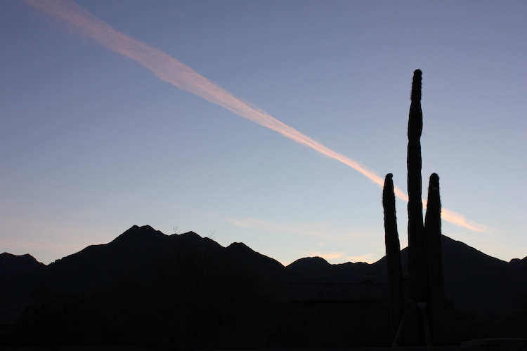 Desert Dawn steels over the McDowell Mountains in the Sonoran Desert